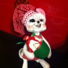 "Annalee Mobilitee Doll Mouse Red Christmas Strawberry Cupcake Doll 8"" $24.99"