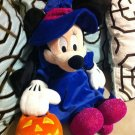 "Minnie Mouse Witch With Pumpkin Pail Halloween Plush Stuffed Animal 18"" $29.99"
