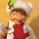 """Annalee Mobilitee Doll 5"""" Classic Red Elf Looking right New with Tags $16.99"""