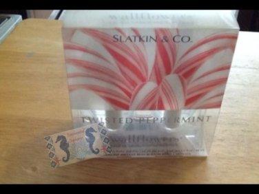 Bath and Body Works Slatkin & Co Lot of 2 Twisted Peppermint Wallflowers $9.99