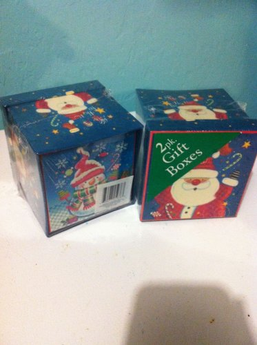 Set of 4 Santa and Snowman Christmas Gift Boxes New $4.99