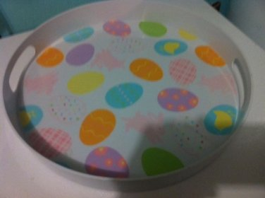 Large Round Plastic Easter Tray Eggs and Bunnies $9.99