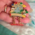 Authentic Walt Disney World Mickey Mouse Dangle Pin 4 parks $24.99