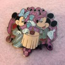 Authentic Hong Kong Disneyland Mickey Minnie Mouse Romantic Dinner Sparkle Pin $24.99