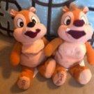 Disney Chip & Dale Plush Stuffed Animals Beanies Cute $24.99