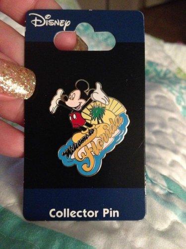 Authentic Walt Disney World Mickey Mouse Florida Sunshine Pin New on Card $14.99