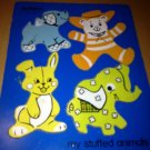 Vintage Playskool Wood Wooden Animal Bunny Elephant Bear Toddler Puzzle