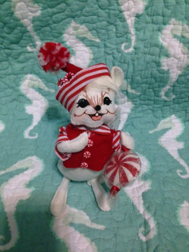 """New Annalee Mobilitee 6"""" Peppermint Boy Mouse 2007 $25.99"""