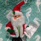 "New Annalee Mobilitee 9"" Snowflake Santa Claus 2012 Green Vest $34.99"