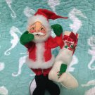 "Vintage1980 8"" Annalee Mobilitee Doll Santa Claus Doll $29.99"