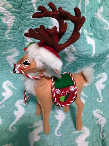 "Annalee Mobilitee Doll New 12"" Peppermint Reindeer 2007 $45"