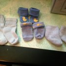 Set of 4 Rare Carters Newborn - 6 Month  Baby Socks $6.99