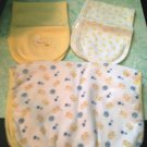 Set of 3 Rare Carters & Fisher Price  Little Duckie Burb Cloths for Baby $6.99