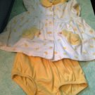 Adorable Rare Carters Little Duckie Chenille 3-6 Month Baby Dress 2pc Outfit $19.99