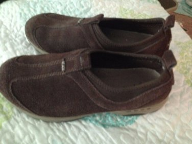 Easy Spirit Suede Brown Size 9 Worn Altheletic Tennis Shoes $19.99