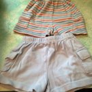 Lot 2 Baby Boy Shorts 0-9 Months Bue & Striped $6.99