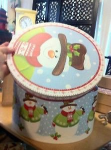 Large Christmas Holiday Snowman Hat Ornament Storage $6.99