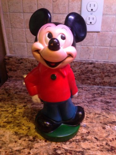 "12"" Vintage Mickey Mouse Disney PVC Bank $9.95"