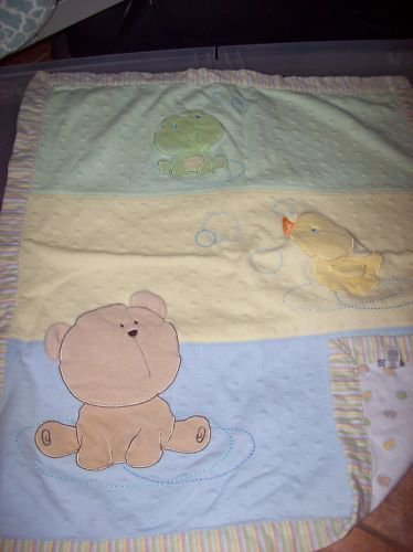 Rare Carters Little Duckie, Bear and Frog Baby Blanket Lovey $24.99