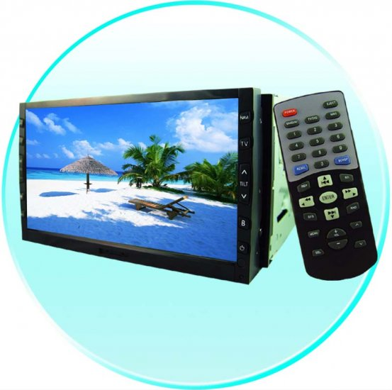 7 Inch in dash touch screen DVD + TV tuner, double DIN