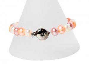 Pink Multi-Toned Freshwater Pearl Bracelet