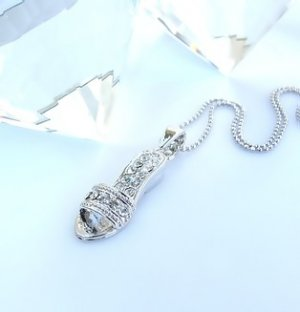 Sandal Necklace made with Swarovski Crystals