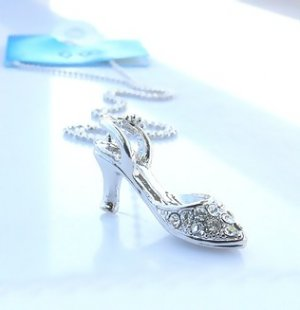 Shoe Pendant Necklace made with Swarovski Crystals