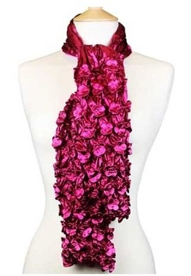 Powder Luxury Scarf - Fuchsia & Wine