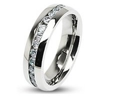 High Society His/Hers Channel-Set Engagement/Wedding Band Size 7(O)