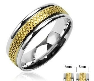 Stylish His Hers 316L Stainless Steel, Engagement Wedding Band Ring  Size 11(W)