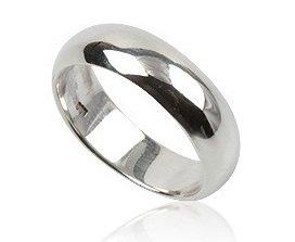 Men's 925 Sterling Silver, 6mm Width, Engagement Wedding Ring Band Size 10(U)