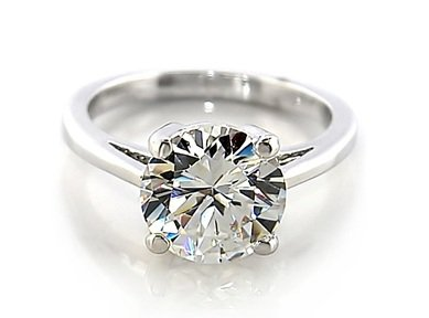 White Round 6mm CZ Sterling Silver Ring Size 8(Q)