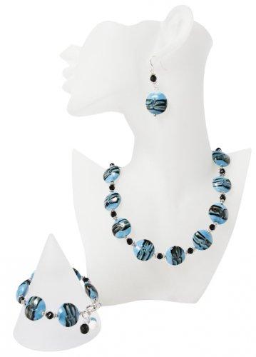 Exquisite Crystal Colour-Glazed Jewellery Set
