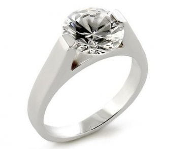 9.5 Carat CZ Solitaire Ring, Size O