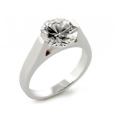 9.5 Carat CZ Solitaire Ring, Size Q