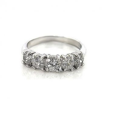 Clear Multi CZ Engagement Ring, Size O(7)