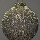 Silver Hand Knit Glass Christmas Ornament