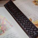 Hand Stamped Leather Bookmark Mahogany