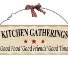 Wooden Plaque Kitchen Gatherings