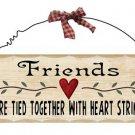 Wooden Plaque Friends