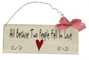 Wooden Plaque Fell in Love