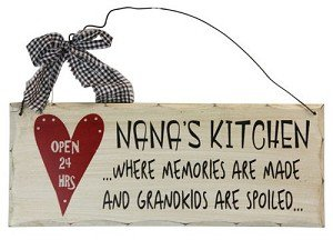 Wooden Plaque Nanas Kitchen