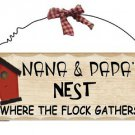 Wooden Plaque Nana & Papa