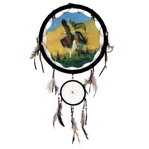 "13"" Indian Girl Dream Catcher"