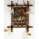Wooden Frame Horses Picture