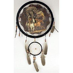 """13"""" Indian on Horseback Dream Catcher"""