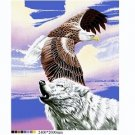 Queen Size Blanket Eagle & Wolf