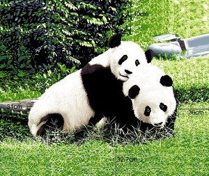 Panda Bear Queen Size Blanket