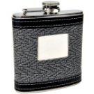 Classy 2-Tone Black/White Personalized Flask