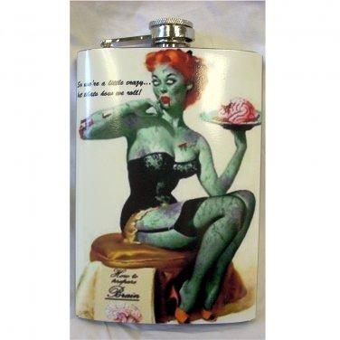 8 oz Custom Graphic Wrapped Flasks